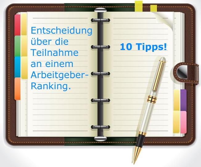 10 Tipps zur Entscheidung über die Teilnahme an einem Arbeitgeberranking