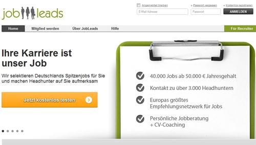 Screenshot: http://www.jobleads.de