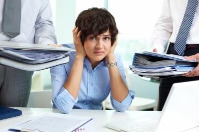 Burnout aufgrund extremer Arbeitsbelastung