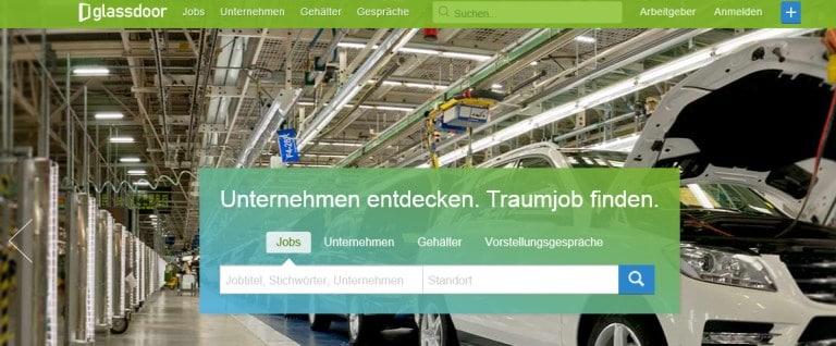 Markteintritt Glassdoor in Deutschland