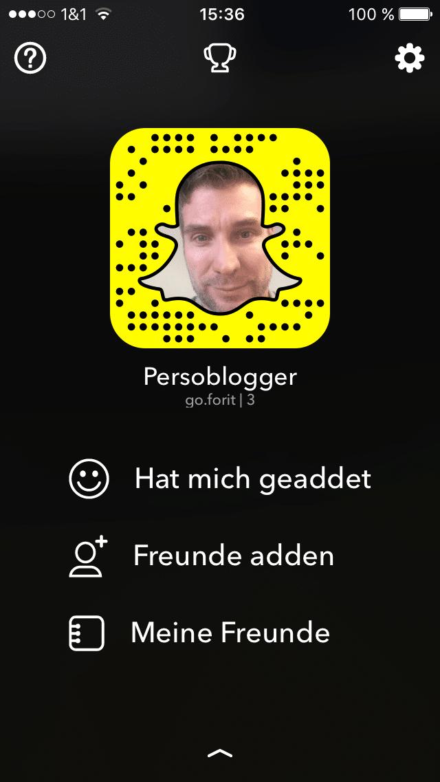 So sieht das Snapchat-Profil von Persoblogger aus