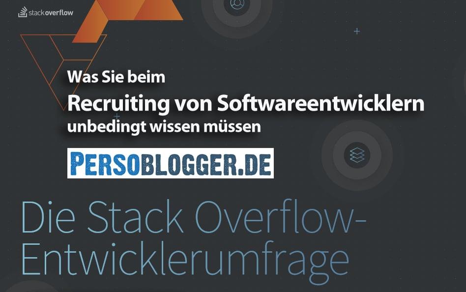 Was Sie beim Recruiting von Softwareentwicklern unbedingt wissen müssen – Studie von Stack Overflow
