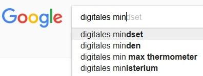 Google-Suche digitales mindset