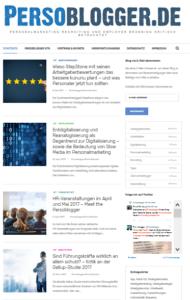 Screenshot HR-Blog Persoblogger.de nach dem Relaunch 2017