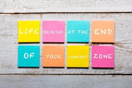 Der Erfolg beginnt außerhalb der eigenen Komfortzone