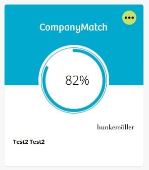 CompanyMatch Screenshot Match Hunkemoller Detailfragen Ergebnis