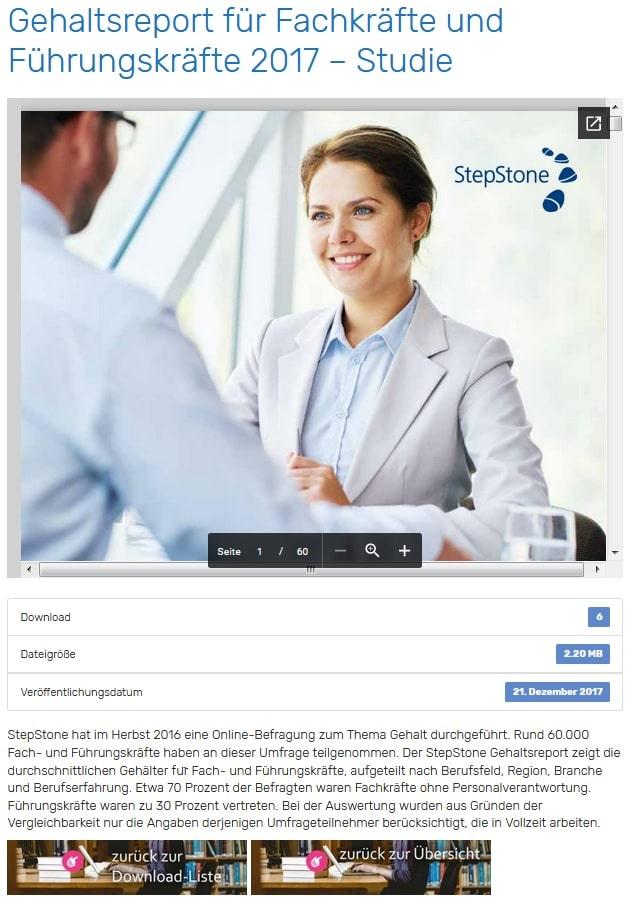Screenshot kostenloser Basis-Download - Detail-Seite HR-Studien Download Portal auf Persoblogger.de
