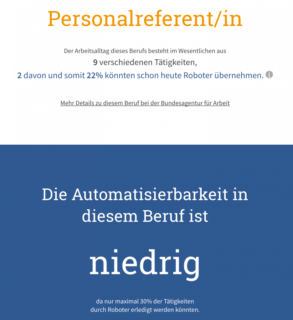 Automatisierungspotential Personalreferent/in