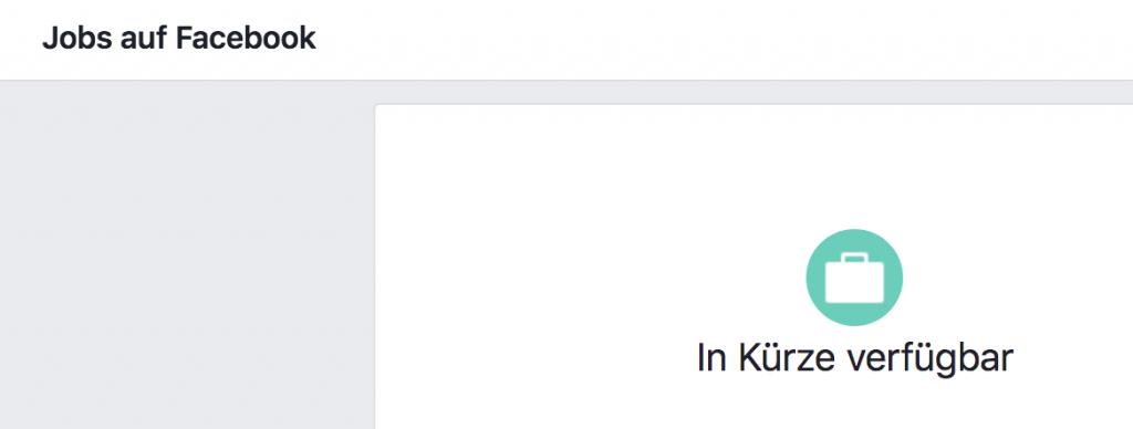 Jobanzeigen auf Facebook kommen bald auch in Deutschland