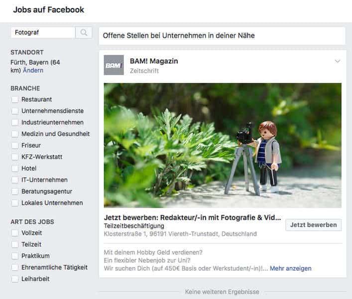 Jobs Auf Facebook Praxistest Was Kann Die Social Media Stellenanzeige