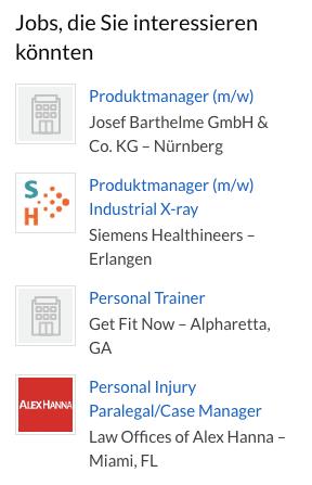 Jobs die Sie interessieren könnten