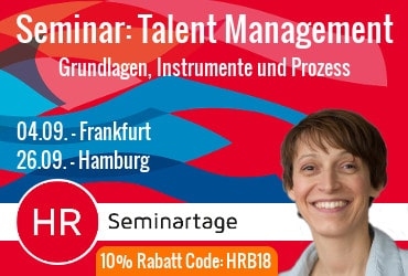 Werbeanzeige Seminar Talent-Management
