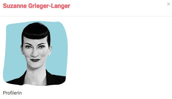 Beschreibung der Referentin Profilerin Suzanne Grieger-Langer auf den SRD 2018