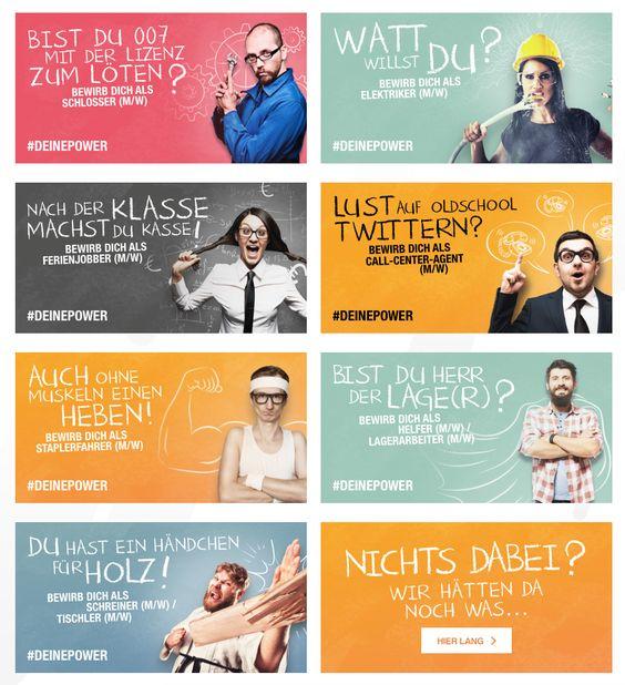 kreative Stellenanzeiges - Multianzeige