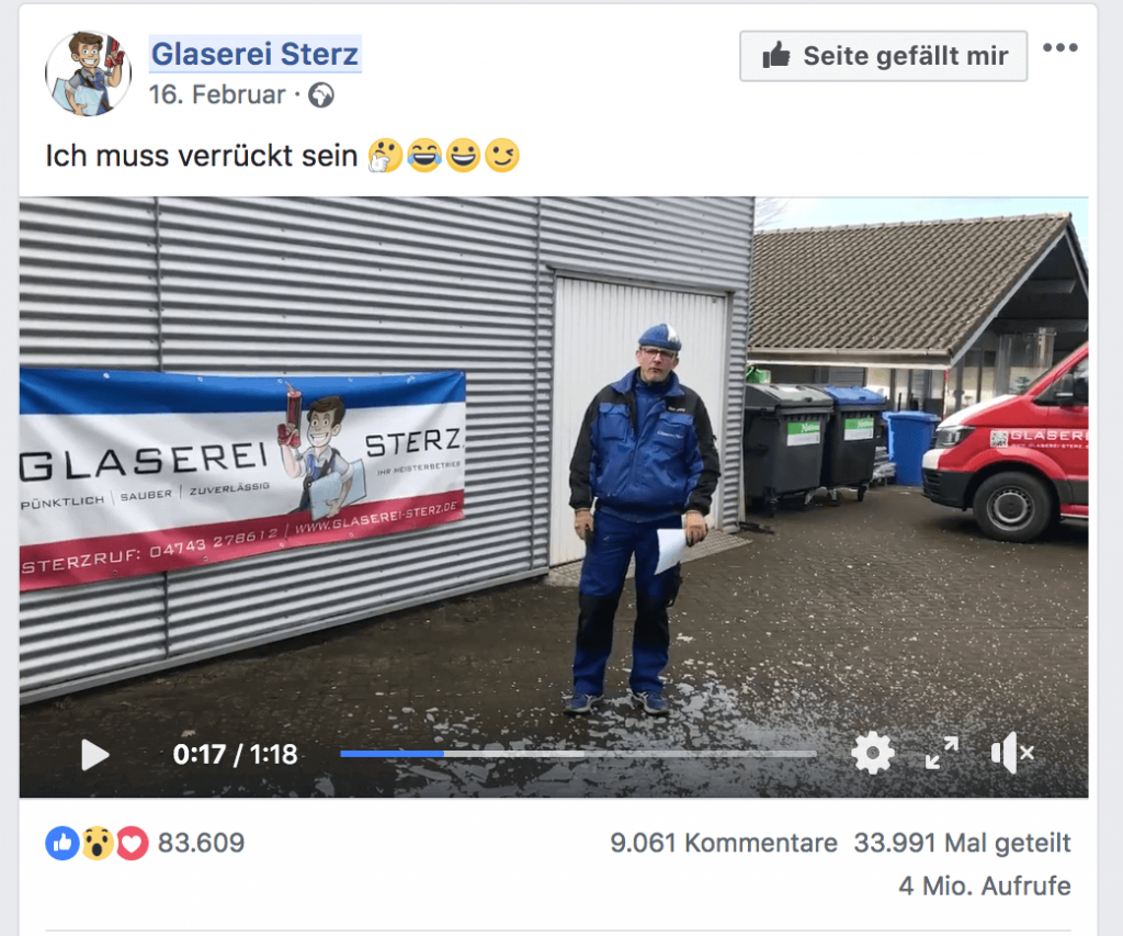 Kreatives Recruitingvideo Glaserei Sterz