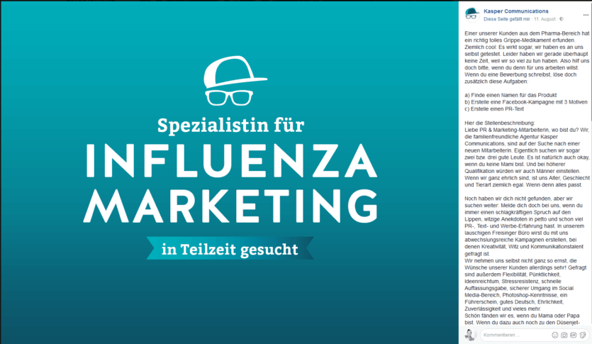 kreatives Stellenanzeigen Influencer Marketing