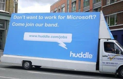 Guerilla Recruiting Aktion gegen Microsoft