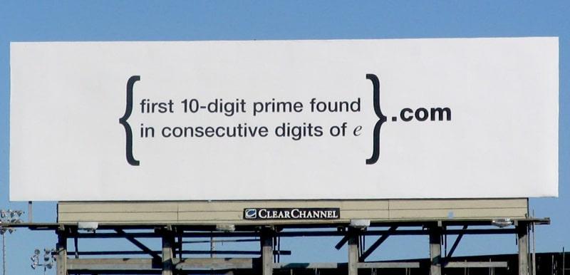 Guerilla Recruiting Kampagne von Google 2004