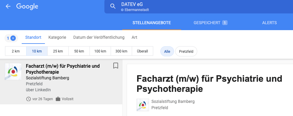 Datenmüll in Google for Jobs