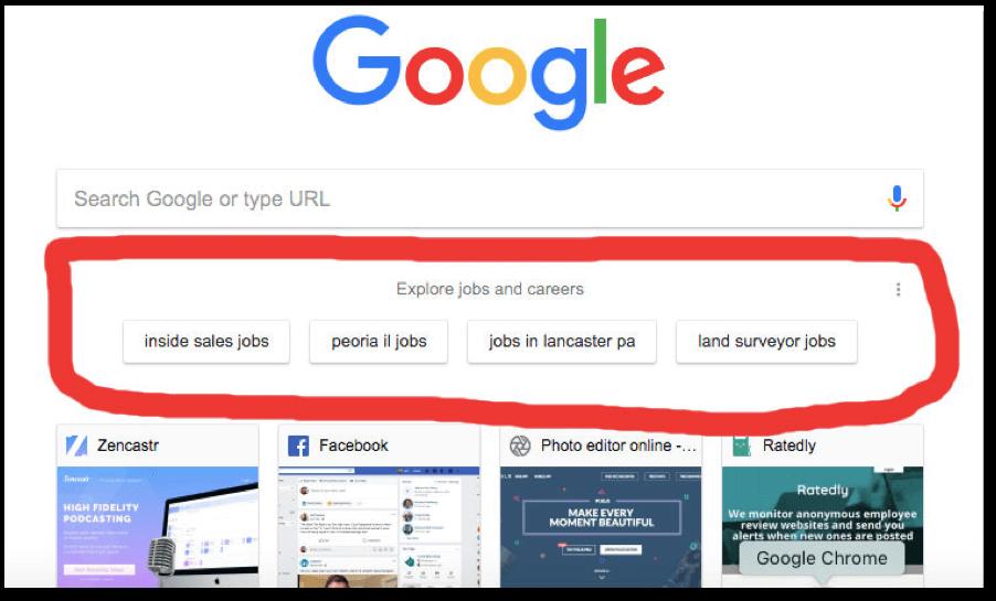 Google bietet aktiv Jobwechsel an