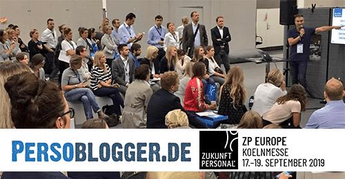 Persoblogger Stefan Scheller auf der Zukunft Personal Europe in der Blogger Lounge