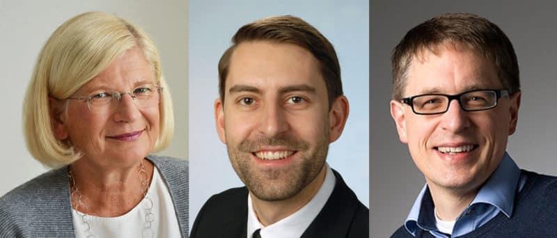 Prof. Anja Lüthy, Korbinian RIepl und Thimo Fries Gründungsmitglieder und Vorstände im recruitingrebels e.V.