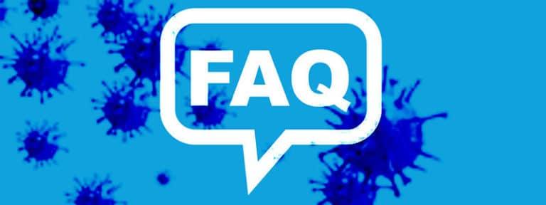 Banner: Corona Covid-19 Pandemie FAQ für Personaler