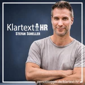 Banner Titel HR-Podcast Klartext-HR von Persoblogger Stefan Scheller