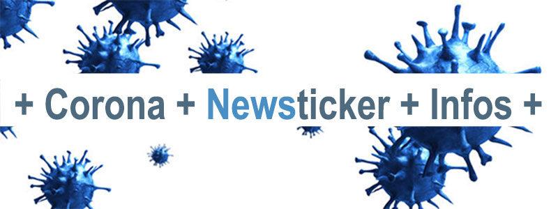Banner Corona Newsticker - Infos - Meldungen