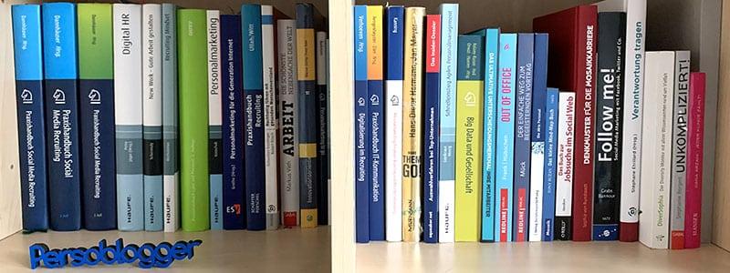 HR-Fachbücher in meinem Bücherregal