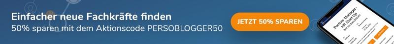 Banner: 50% Rabatt-Aktion mit Aktionscode für Block2Job