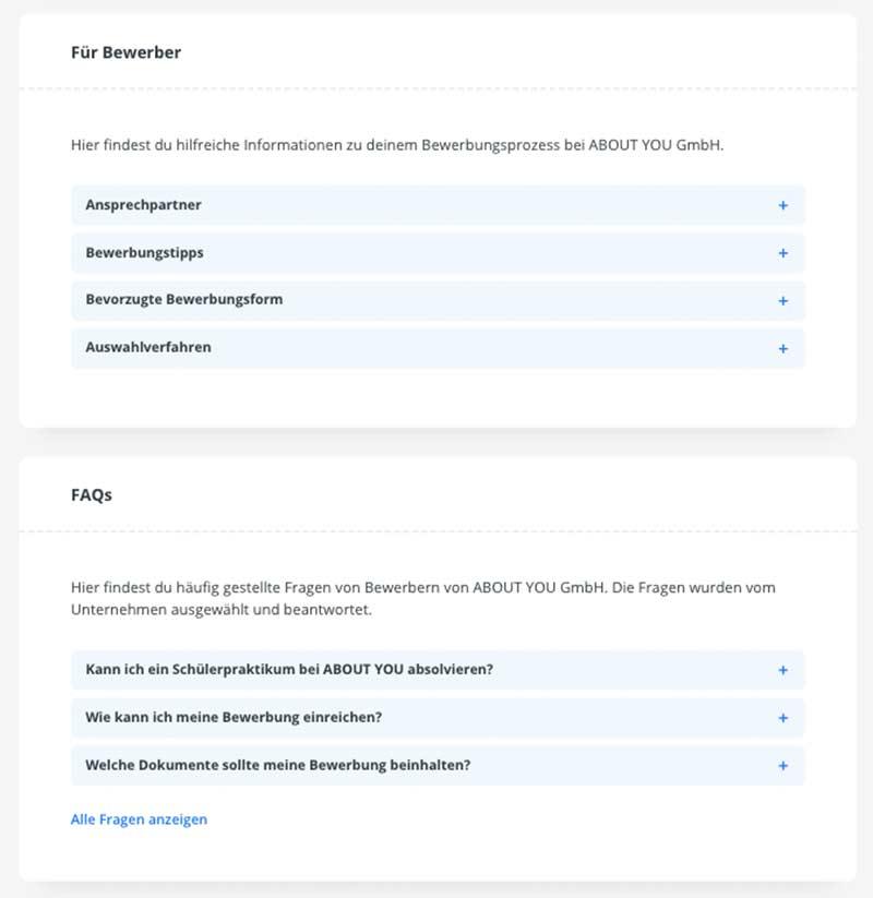 kununu Unternehmensprofil Relaunch 2020 - neue Bereiche
