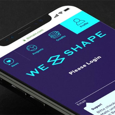 Screenshot App WeShape.world