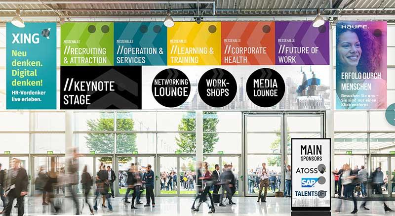 Virtuelle Zukunft Personal Eingangshalle