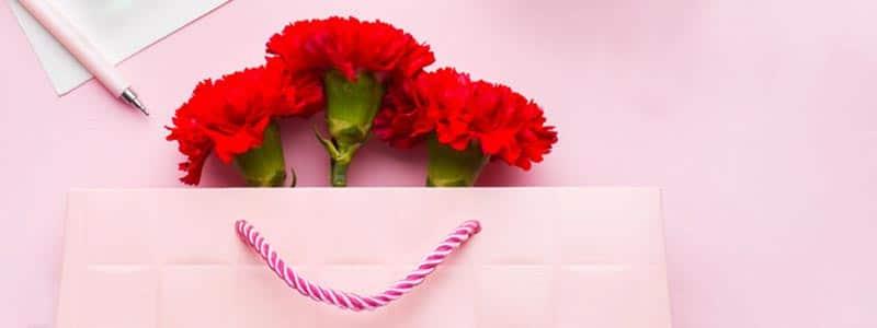 rote Nelken zum Weltfrauentag