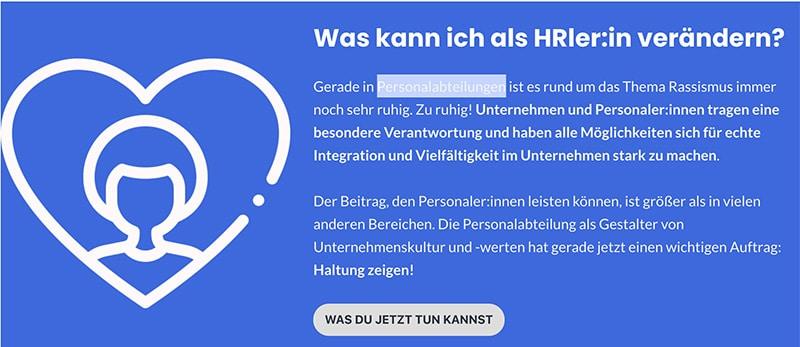 #hrespect gegen Rassismus: Was kann HR tun?