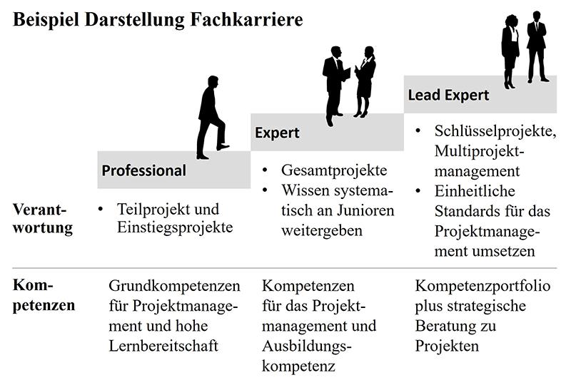 3 Ebenen Fachkarriere
