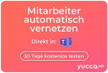 yuccaHR Mitarbeiter automatisch mit Teams vernetzen